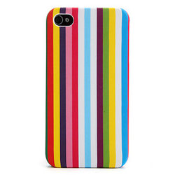 iPhone 4/4S skal - Colorful Stripes