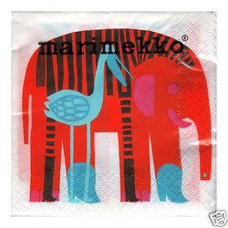 Servett Marimekko - elefant