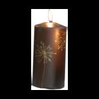 Dandelion - Blockljus 14 cm (Brun)